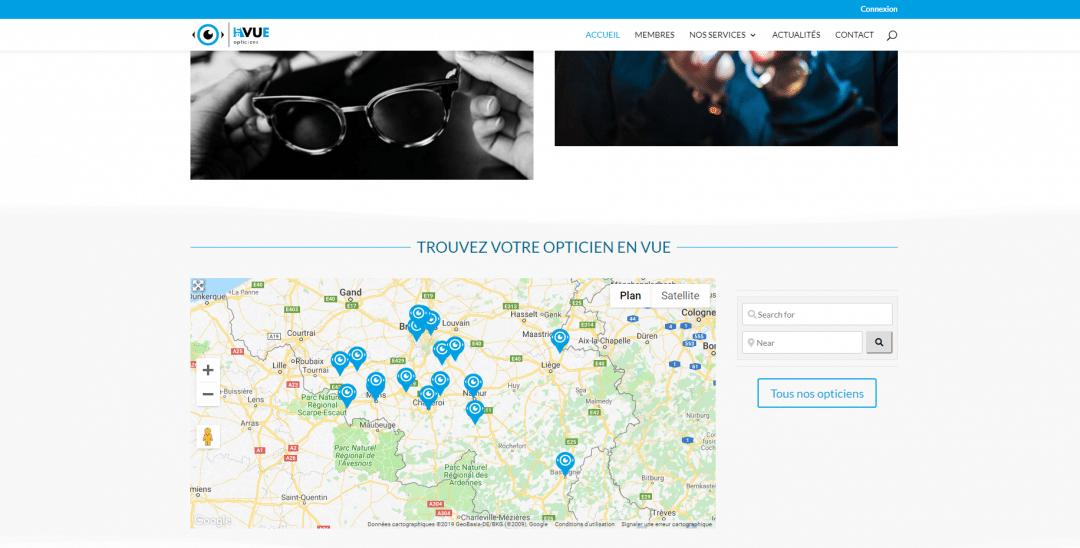 En Vue - site wordpress/divi